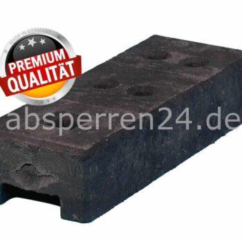 kunststofffuss PVC schwarz