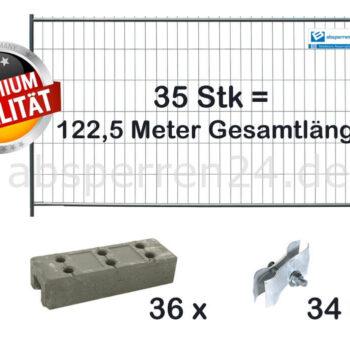 Bauzaun Set / Paket | 35 Stk classic 2