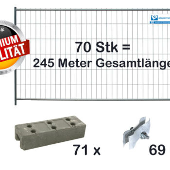 Bauzaun Set / Paket | 70 Stk light