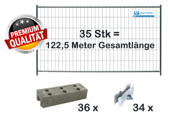 Baustellenzaun Paket | 35 Stk light