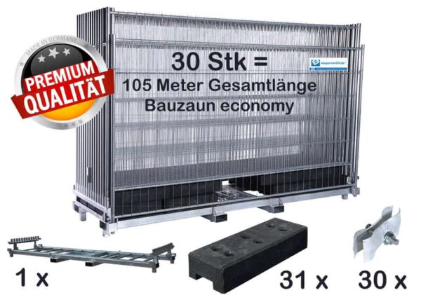 bauzaun_komplettpaket_economy_transportpalette_kunstofffuesse